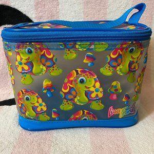 Lisa Frank Peekaboo Turtle Makeup Case Lunch Bag